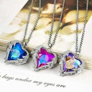 2019-Fashion-Angel-Wing-Necklace-Heart-Rhinestone-Crystal-Chain-Pendant-Jewelry