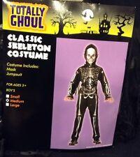 Totally Ghoul Boy's Classic Skeleton Halloween Costume Medium