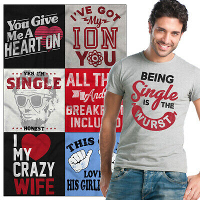 Valentine/'s Day Single Red Adult T-Shirt