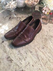 Banana Republic Mens Brown Leather Loafer Oxfords Size 9 Dress Shoes UK 8 EU42