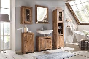 Badmöbel Set 6-teilig Badezimmer Badschrank Spiegel Palisander ...