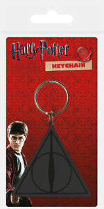Harry Potter (Deathly Hallows Logo) Rubber Keychain/Keyring *OFFICIAL*