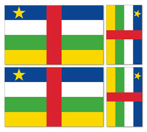 4 X barbade flag Vinyle Voiture Van Ipad Laptop Sticker
