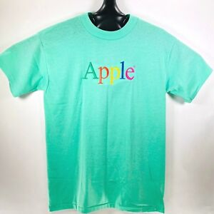 Vintage-Apple-Computers-Macintosh-T-Shirt-Embroidered-Size-XL-Single-Stitch