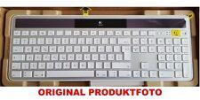 Logitech Wireless K750 Solar Keyboard Tastatur grau Unifying Receiver Empfänger