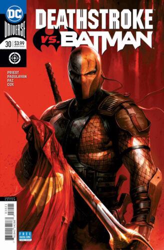 DEATHSTROKE ISSUE 30 VS BATMAN PART 1 FIRST 1st PRINT MATTINA COVER DC COMICS