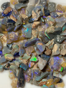Australian-Rough-Opal-parcel-13mm-to-chip-bright-multi-fires-180ts-RV259-Video