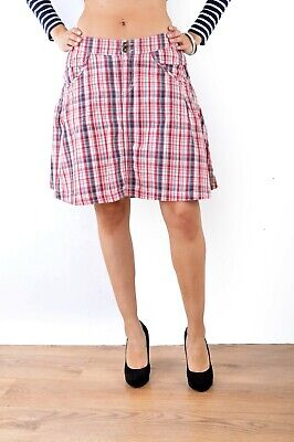 f162b839ef Details about Tommy Hilfiger Anshu Tartan Checked Skirt Sample 1 off Red  Small Uk 8 / 10 VGC