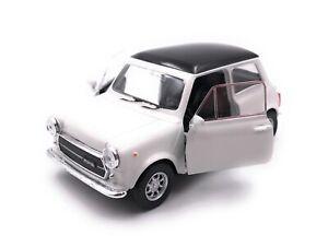 Modellino-Auto-Mini-Cooper-1300-Oldtimer-Bianco-Auto-Scala-1-3-4-39-Licenza