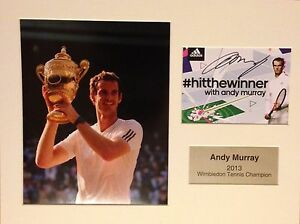 ANDY-MURRAY-HAND-SIGNED-AUTOGRAPH-PHOTO-DISPLAY-MOUNT-WIMBLEDON-CHAMPION
