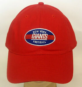 Details about NFL New York Giants Football Cap Hat Buckle-Back Adjustable  Curve Brim NEW! f4a21b5256e