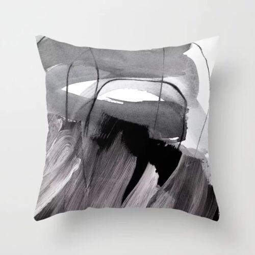 Geometric Oil Painting Pillow Case Sofa Car Waist Throw Cushion Cover Home Decor