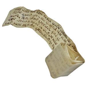 Authentic-Antique-Hebrew-Torah-Manuscript-Parchment-CA-1600-1800-s-Tefillin-A