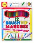 ALEX Toys Brush Tip Markers - 12 Durable Paintbrushes (3 Years and Above)