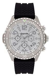 Uhr-Armbanduhr-Herrenuhr-Chronograph-Gigandet-G23-001-Silber-Schwarz-Silikonband