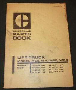 Details about CAT CATERPILLAR M60 M70 M80 M100 LIFT TRUCK FORKLIFT PARTS  MANUAL BOOK