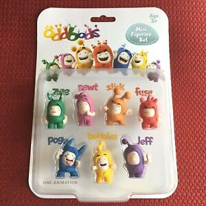 Oddbods-Set-of-7-Figures-Toys-Brand-New