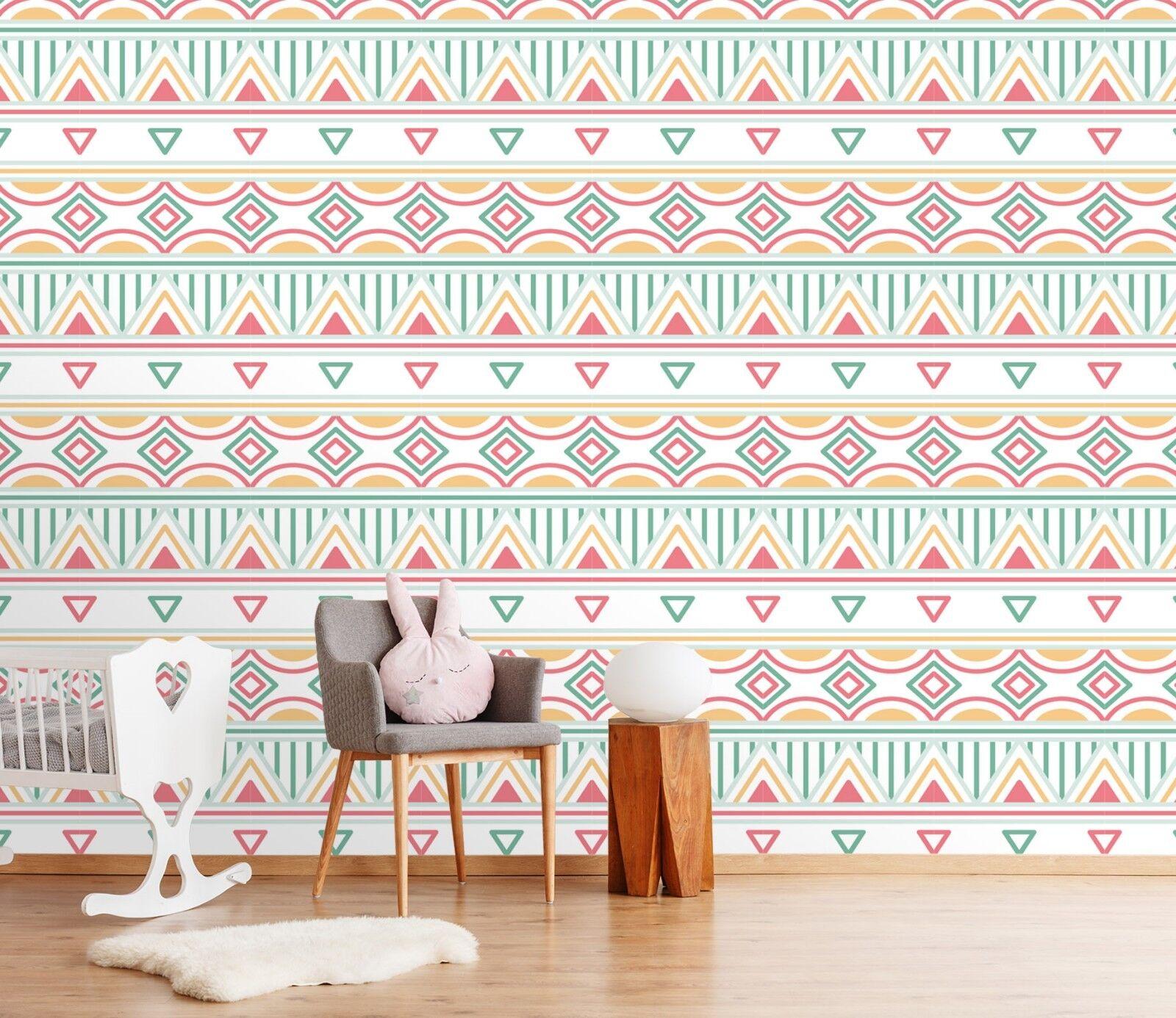 3D Triangle Pattern Art 3 Wallpaper Mural Print Wall Indoor Wallpaper Murals UK