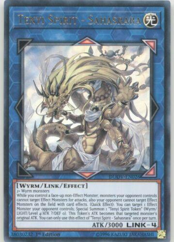 Yugioh DUOV-EN026 Tenyi Spirit Sahasrara Ultra Rare
