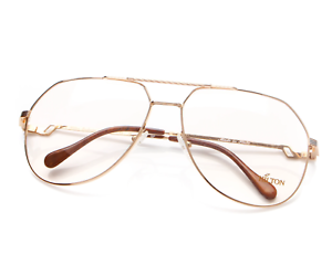 Vintage-Hilton-Exclusive-14-C2-Gold-Unisex-Eyeglasses-Optical-Frame-Lunettes-RX