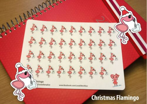 Flamingo Christmas Planner Stickers,