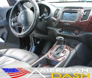 2011 2012 2013 interior burl wood dash trim kit set for kia image is loading 2011 2012 2013 interior burl wood dash trim sciox Gallery