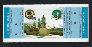 1970-NCAA-NOTRE-DAME-IRISH-MICHIGAN-ST-SPARTANS-FULL-UNUSED-FOOTBALL-TICKET