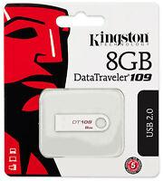 Kingston 8gb Data Traveler 109 Dt109 Usb 2.0 Flash Memory Pen Drive Thumb Stick