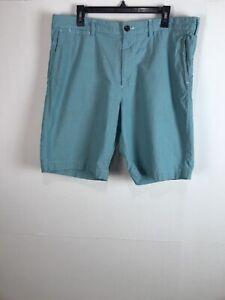 J-Crew-Club-Mens-Chino-Khakis-Shorts-Size-36-Green-Casual-Cotton-Flat-Front