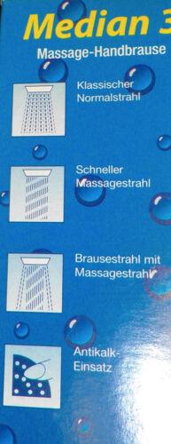 Brausekopf Duschkopf Handbrause 3-fach matt blau abgesetzt