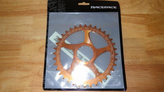 RACEFACE NARROW-WIDE 36T CHAINRING, DIRECT MOUNT, orange, NEW