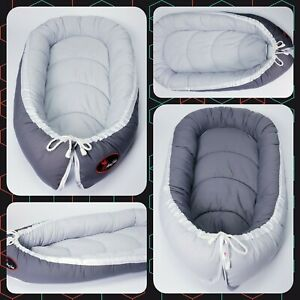 Baby nest pod cocoon XL SIZE 0-12 months HIGH QUALITY snow white all over simple