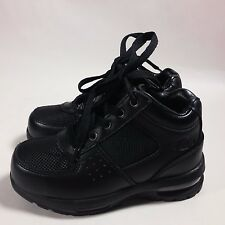 NICE Boy's Kids Mountain Gear Walking Hiking Ankle Boots Black Leather-11