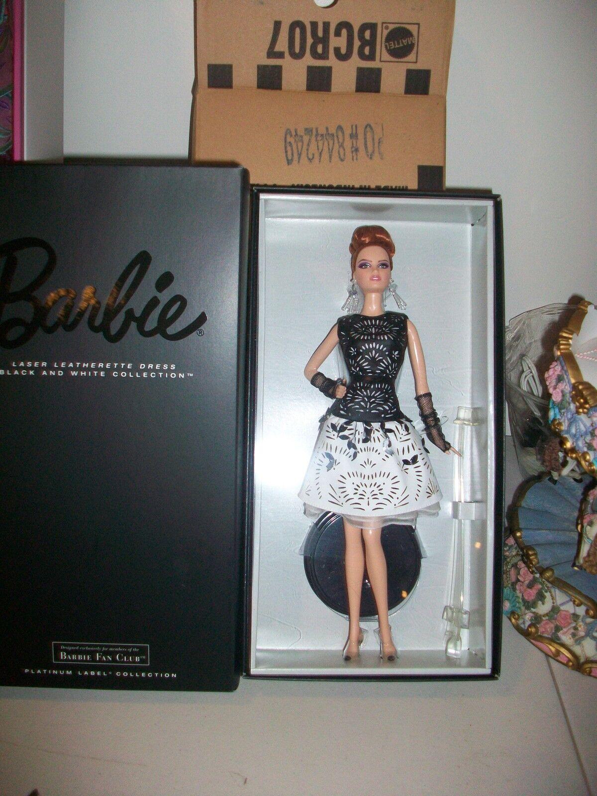 Platinum Label bfcm Láser Cuero Vestido Barbie Menta en caja vendido
