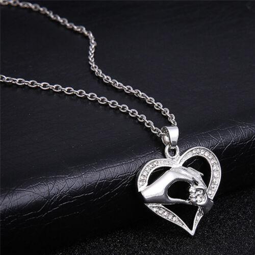El Dia De La Madre Corazón Colgante Cadena Collar de amor de familia Mamá niño Joyería Regalo S/&K