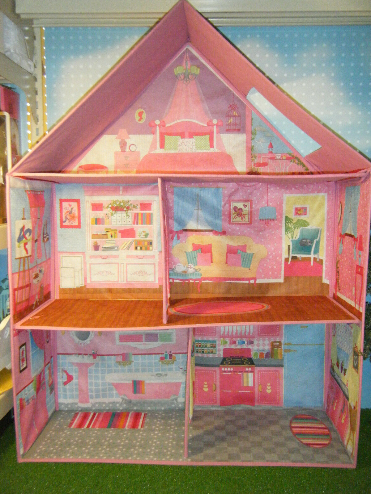 BARBIE DOLL SIZE CALEGO 3D IMAGINATION TRADITIONAL DOLL HOUSE *NEW*
