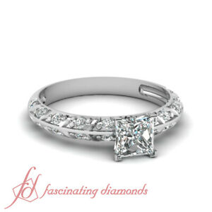 Bar-Design-Pave-Set-Engagement-Rings-For-Women-0-70-Ct-Princess-Cut-Diamond-SI2