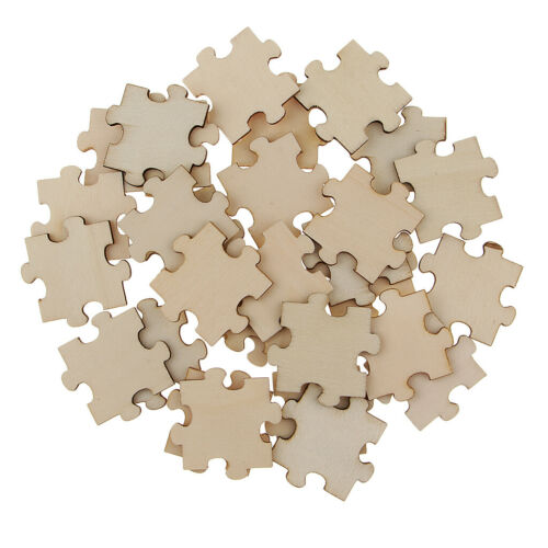 100 40x40mm Blank Wooden Puzzle Embellishments Wood Slices for DIY Art Craft