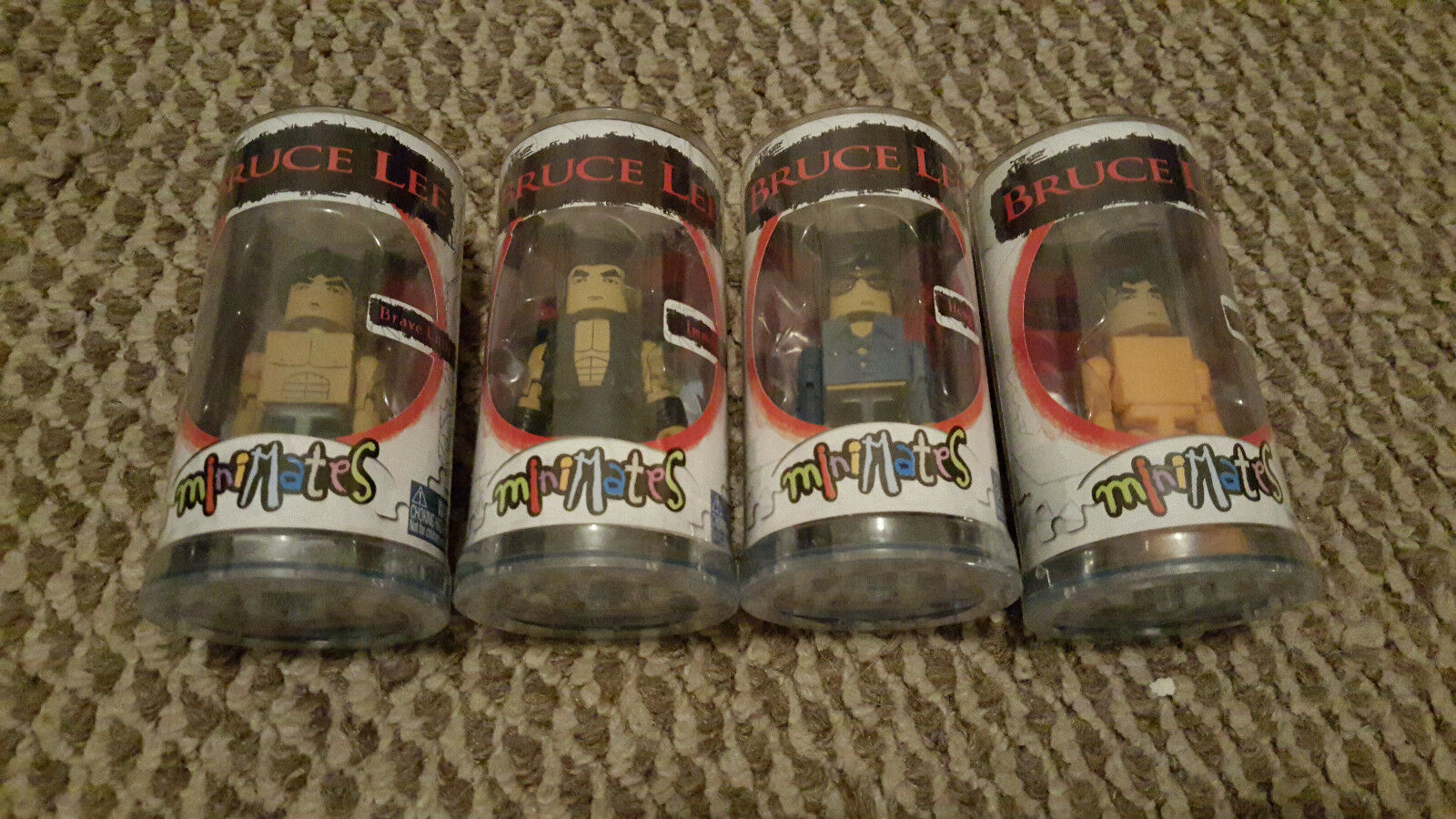 Bruce Lee Minimates Complete Set of 4 Action Figures made by Art Asylum