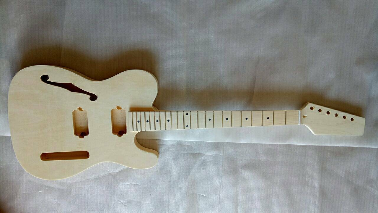 DIY Electric Guitar Kit Basswood Body Maple Neck Maple Fingerboard 22 Frets