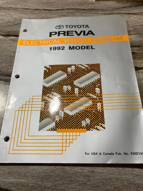 1992 Toyota Previa Electrical Wiring Diagram Ill Shop