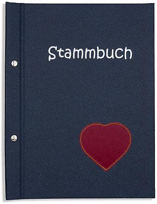 A4 Stammbuch der Familie Argento Herz rot Din A4 Hochzeit incl 11 Hüllen