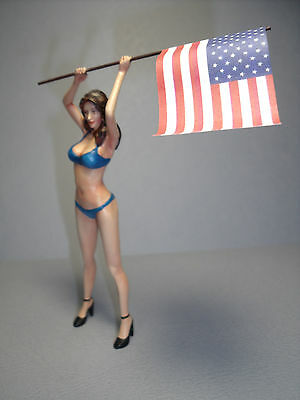 1/18  UNPAINTED  FIGURE  SEXY  GIRL  HILLARY   MADE  BY  VROOM  NO  MASCOTE