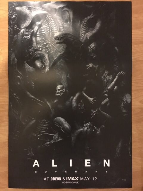 Alien covenant Poster Odeon IMAX Exclusive cinema movie promo Ridley Scott scary