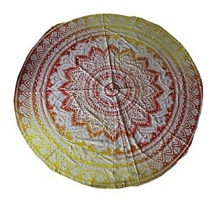 Indian Round Table Cloth Mandala Beach Wear Wall Hanging Tapestry Banquet Cloth