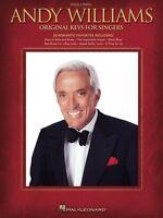 Andy Williams Original Keys For Singers Vocal Piano Book 000307160
