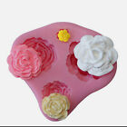 3D Mini Rose Flower Shape Chocolate Fondant Mold Candy Cake Decor Silicone Mould