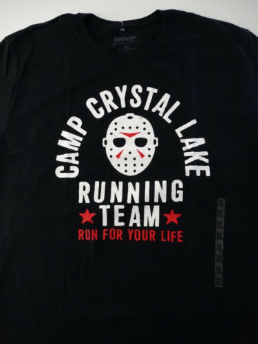 Friday the 13th Camp Crystal Lake Running Team Voorhees Black T-Shirt