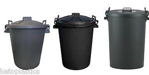 110L 85l 70L 50L NOIR poubelle avec verrouillage poignées verrouillables déchets poubelle-afficher le titre d`origine hPGcUqUD-07190000-221143821