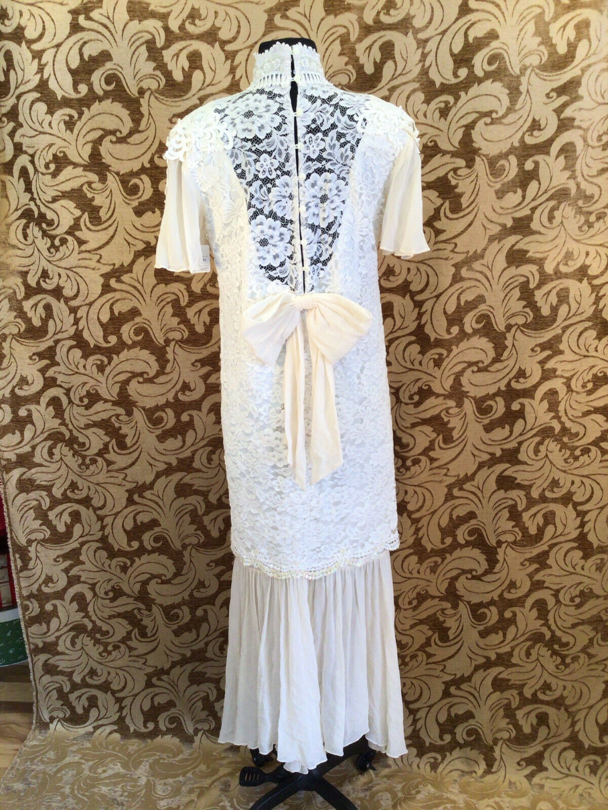 True Vintage Jessica McClintock 1980s Wedding Dre… - image 6